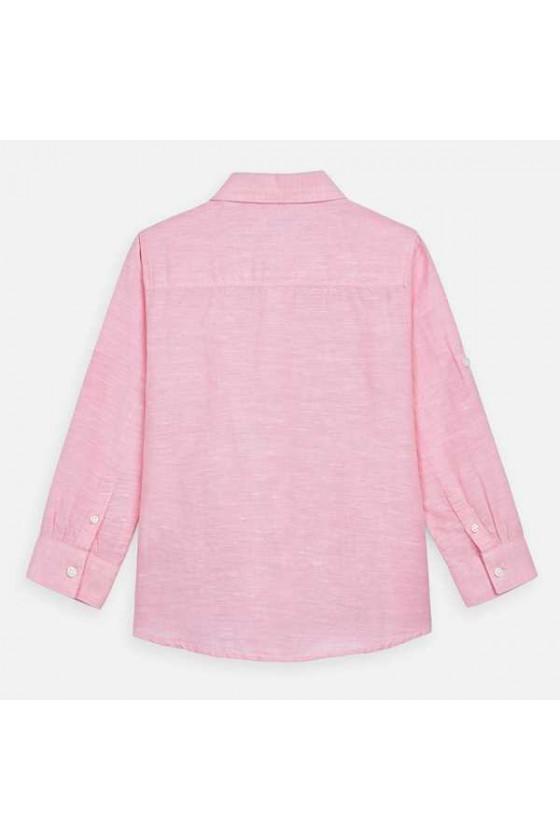 Camisa m/l lino basica