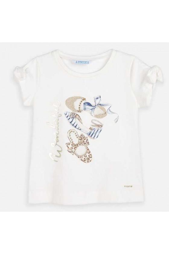 Camiseta m/c manga lazo