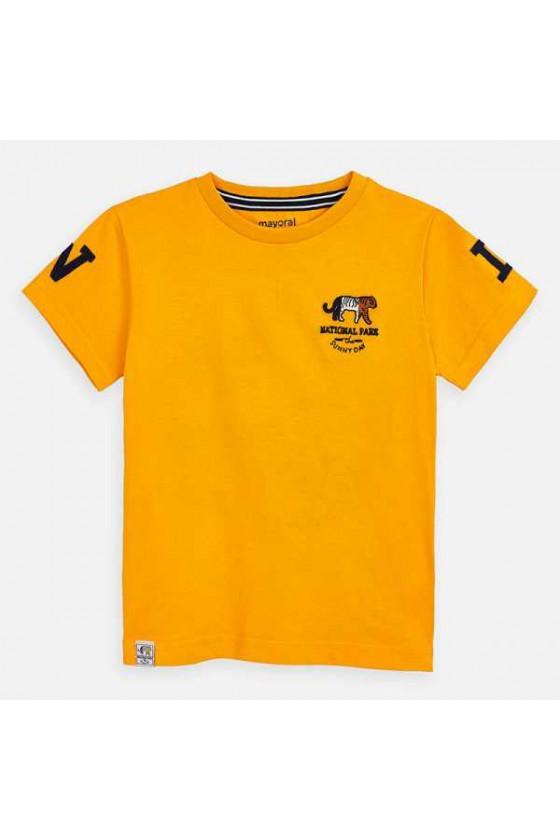 Camiseta m/c bordados