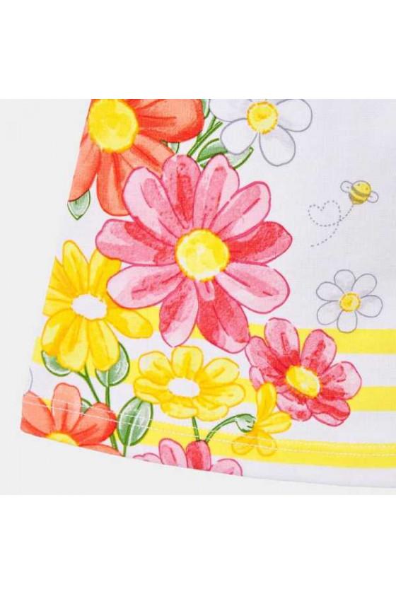Vestido flores posicionadas