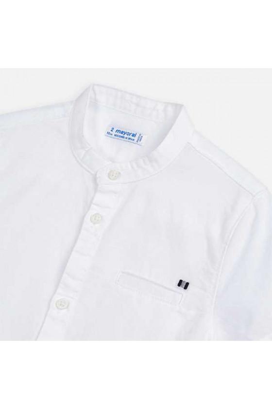 Camisa m/c lino mao