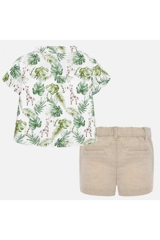 Conj pantalon corto y camisa