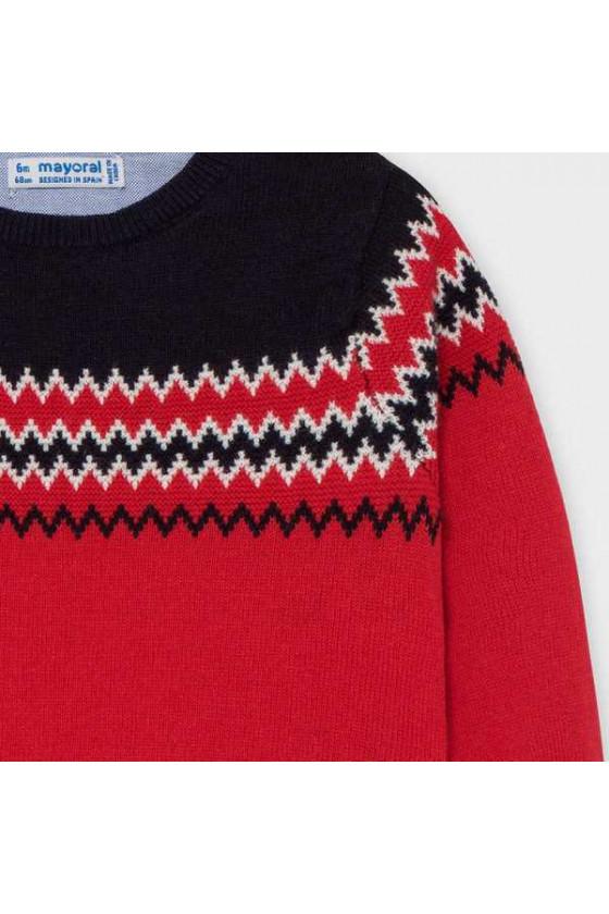 Conj pantalon tricot jacquar tallas de 9 a 36 meses