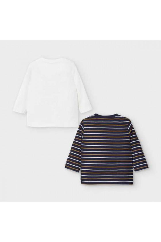 Set 2 camisetas m/l rayas