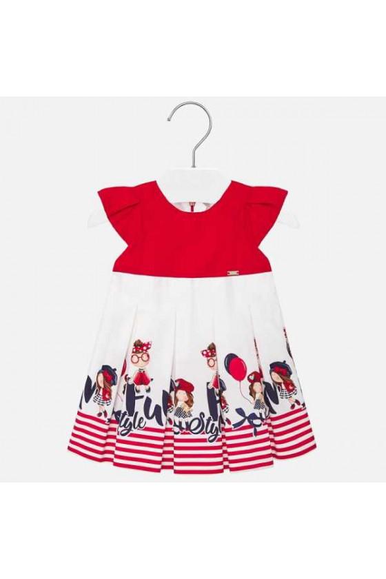 Vestido cenefa niñas
