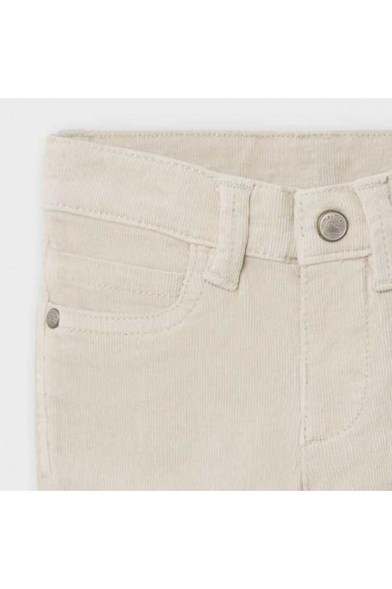 Pantalon pana slim fit basico (talla de 6 a 36 meses)